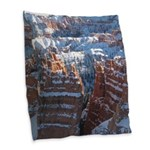 Bryce Canyon In Snow Burlap Throw Pillow