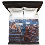 Bryce Canyon In Snow King Duvet