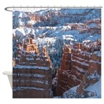 Bryce Canyon In Snow Shower Curtain
