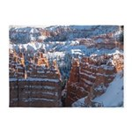Bryce Canyon In Snow 5'x7'area Rug