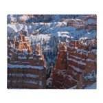 Bryce Canyon In Snow Throw Blanket