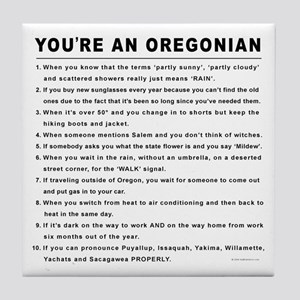 You're an Oregonian Tile Coaster