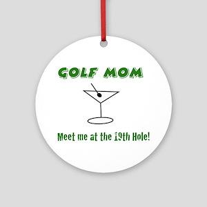 Golf Mom - Round Tag (or Ornament)
