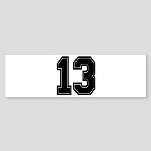 13 Bumper Sticker