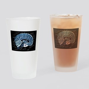 Human Brain Drinking Glass