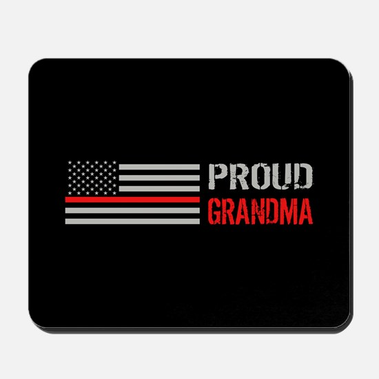 Firefighter: Proud Grandma (Black) Mousepad