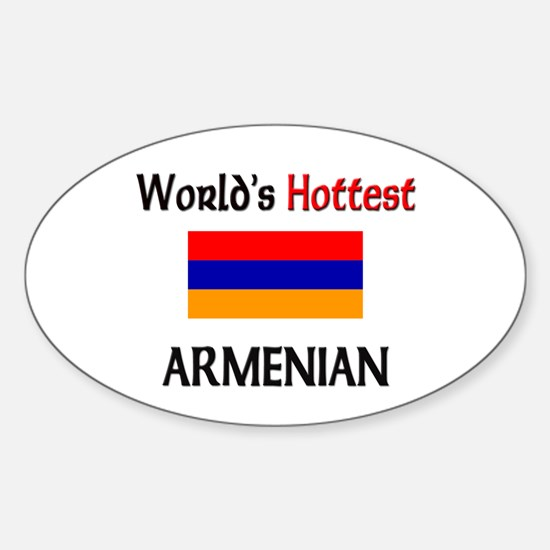 World's Hottest Armenian Oval Decal