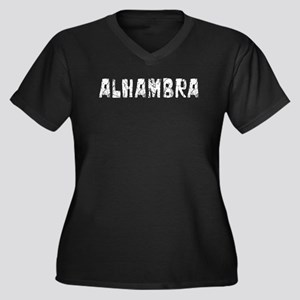 Alhambra Faded (Silver) Women's Plus Size V-Neck D