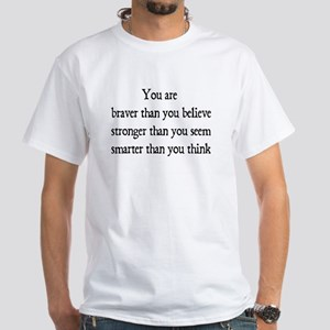 braver White T-Shirt