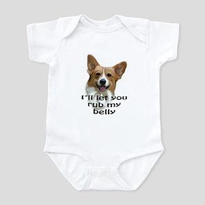 Corgi belly rub Infant Bodysuit