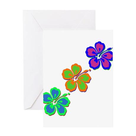 Draping Hibiscus Greeting Card