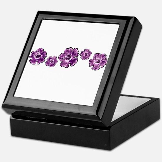 Purple Hibiscus Keepsake Box