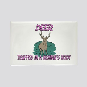 Deer Trapped In A Woman's Body Rectangle Magnet