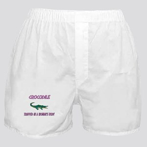 Crocodile Trapped In A Woman's Body Boxer Shorts