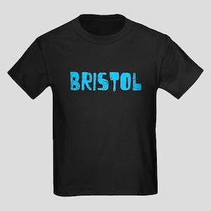 Bristol Faded (Blue) Kids Dark T-Shirt