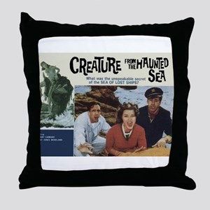 The Creature From The Haunted Throw Pillow
