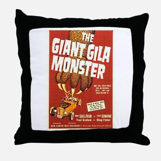 The Giant Gila Monster Throw Pillow