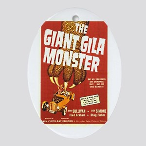 The Giant Gila Monster Oval Ornament