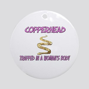 Copperhead Trapped In A Woman's Body Ornament (Rou