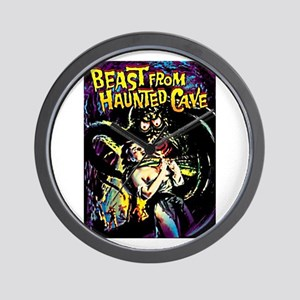 Beast From Haunted Cave Wall Clock