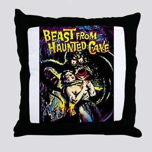 Beast From Haunted Cave Throw Pillow