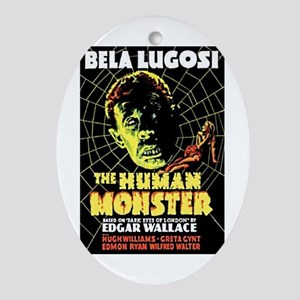 The Human Monster Oval Ornament