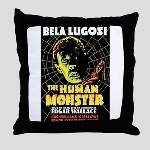 The Human Monster Throw Pillow
