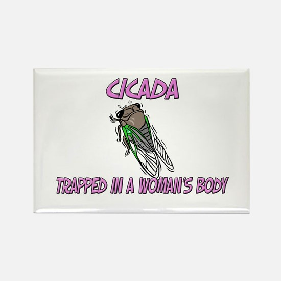 Cicada Trapped In A Woman's Body Rectangle Magnet
