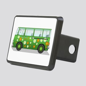 Hippie Van Peace and Love Rectangular Hitch Cover