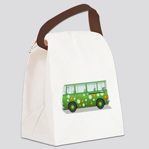 Hippie Van Peace and Love Canvas Lunch Bag
