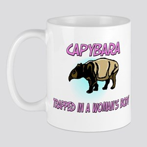 Capybara Trapped In A Woman's Body Mug