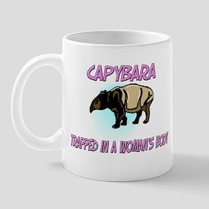 Capybara Trapped In A Woman's Body Mug