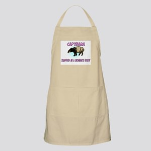 Capybara Trapped In A Woman's Body BBQ Apron