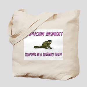 Capuchin Monkey Trapped In A Woman's Body Tote Bag