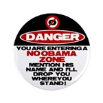 "No Obama Zone 3.5"" Button (100 pack)"
