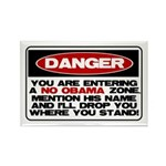 No Obama Zone Rectangle Magnet (100 pack)