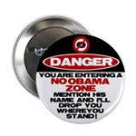 "No Obama Zone 2.25"" Button (100 pack)"