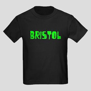 Bristol Faded (Green) Kids Dark T-Shirt