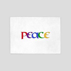 Peace Rainbow 5'x7'Area Rug