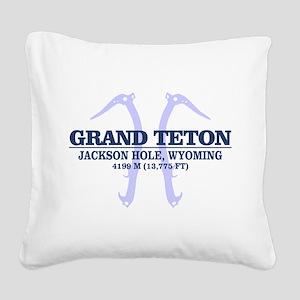 Grand Teton Square Canvas Pillow
