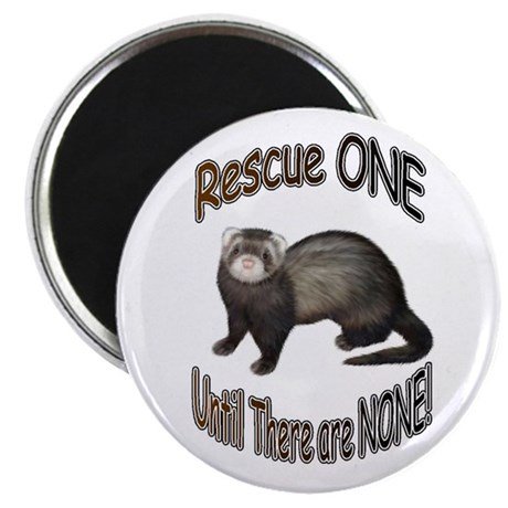 "Rescue Ferret 2.25"" Magnet (100 pack)"
