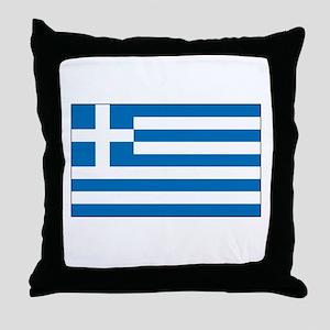 Greek Flag Throw Pillow