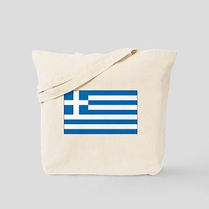 Greek Flag Tote Bag