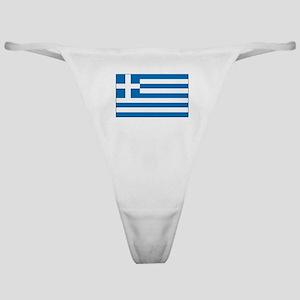 Greek Flag Classic Thong