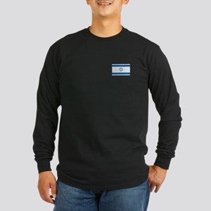 Israeli Flag Long Sleeve Dark T-Shirt