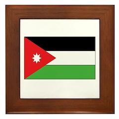 Jordan Flag Framed Tile