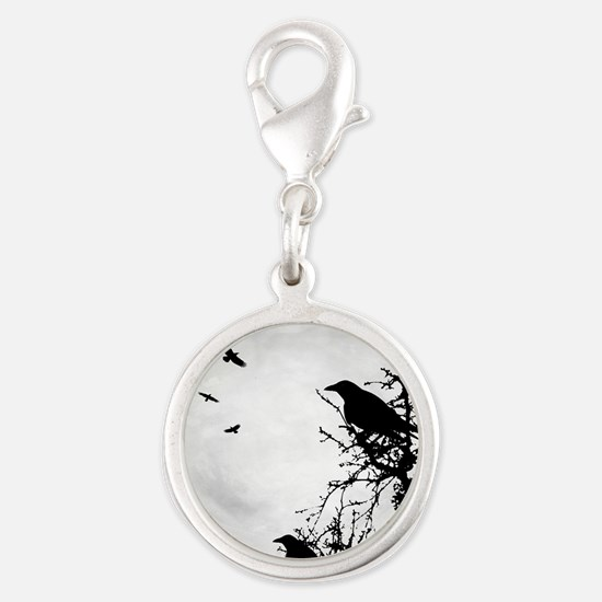 Design 43 crow silhouette Charms