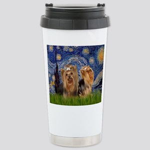 Starry Night & Yorkie Pair Mugs