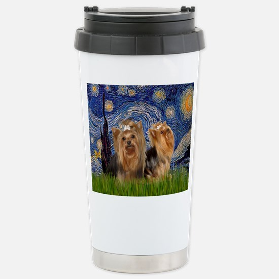 Starry Night & Yorkie Pair Mugs