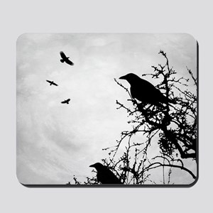 Design 43 crow silhouette Mousepad